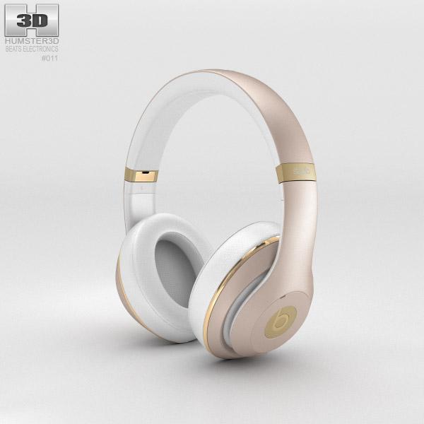 Beats by Dr. Dre Studio Over-Ear Headphones Champagne 3d model