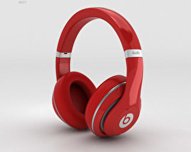 3D model of Beats by Dr. Dre Studio Over-Ear Headphones Red
