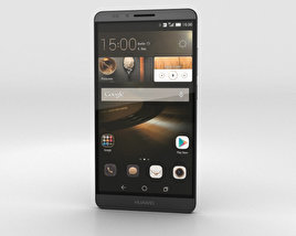 3D model of Huawei Ascend Mate 7 Obsidian Black