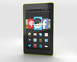 3D model of Amazon Fire HD 6 Citron