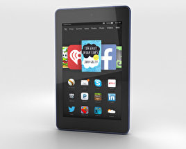 3D model of Amazon Fire HD 6 Cobalt