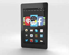 Amazon Fire HD 6 White 3D model
