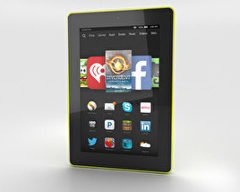 3D model of Amazon Fire HD 7 Citron