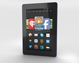 3D model of Amazon Fire HD 7 Cobalt