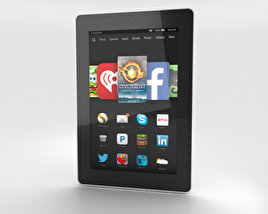 3D model of Amazon Fire HD 7 White
