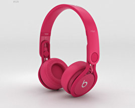 3D model of Beats Mixr High-Performance Professional Pink