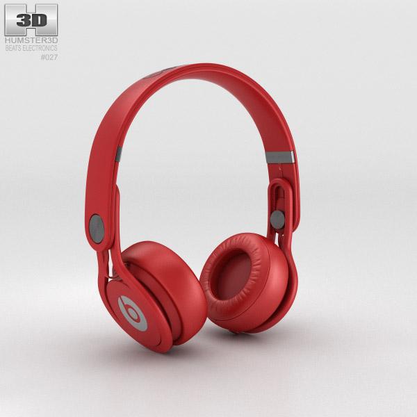 Beats Mixr High-Performance Professional Red 3d model