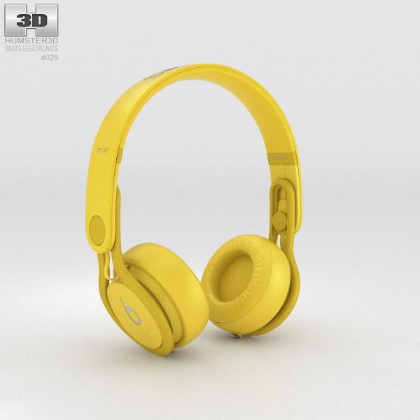 Beats Mixr High-Performance Professional Yellow 3d model