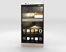3D model of Huawei Ascend Mate 7 Amber Gold