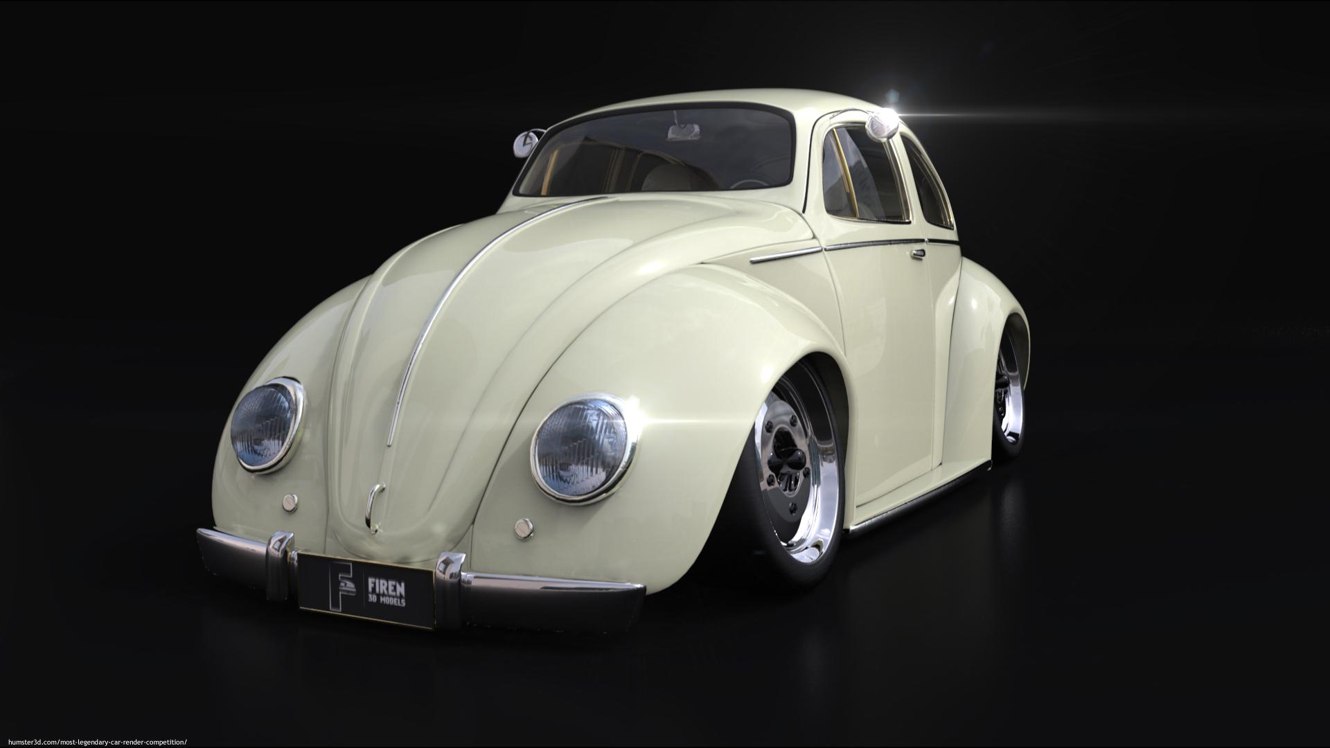 Volkswagen beetle 1963 tuning 3d art