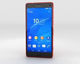 3D model of Sony Xperia Z3 Compact Orange