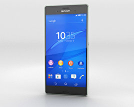 3D model of Sony Xperia Z3 Silver Green