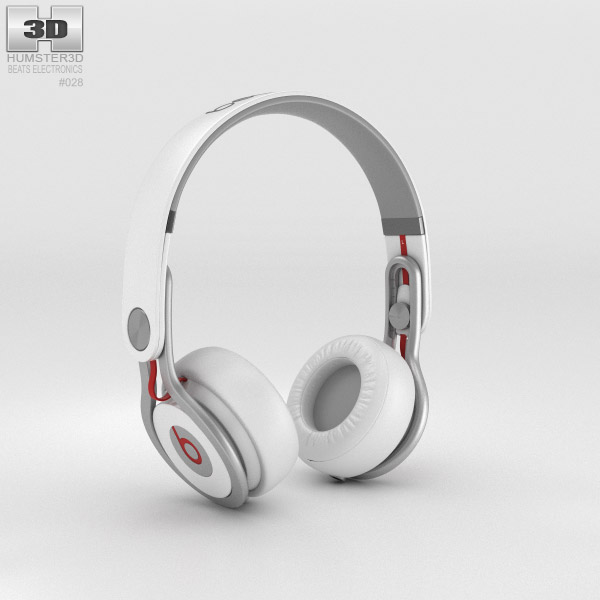 Beats Mixr High-Performance Professional White 3d model
