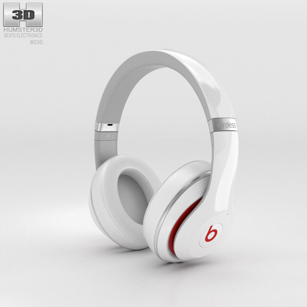 Beats by Dr. Dre Studio Wireless Over-Ear White 3D model