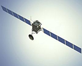 3D model of Rosetta space probe