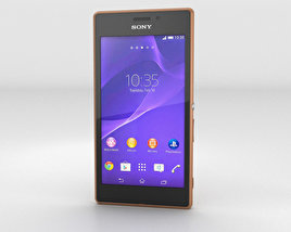 3D model of Sony Xperia M2 Aqua Copper