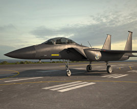3D model of McDonnell Douglas F-15E Strike Eagle