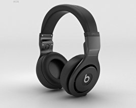 3D model of Beats Pro Over-Ear Headphones Black