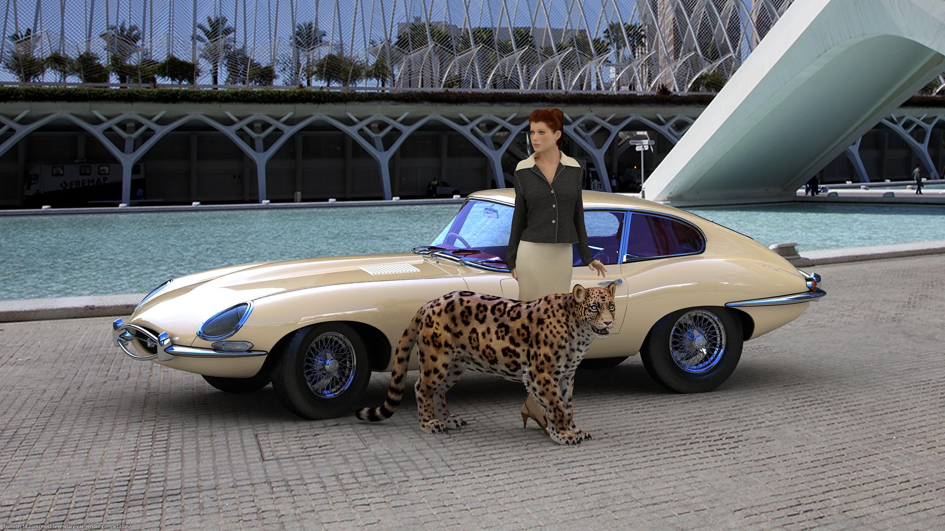 Jaguar with Jaguar 3d art