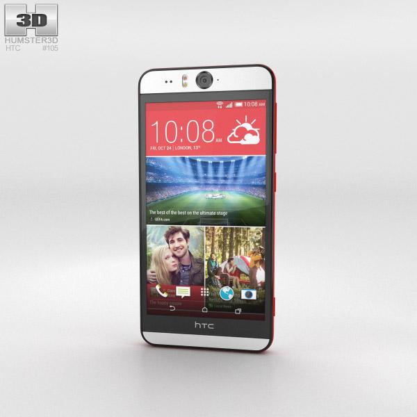 HTC Desire Eye Red 3d model
