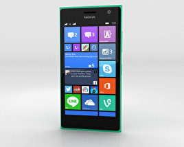 3D model of Nokia Lumia 730 Green