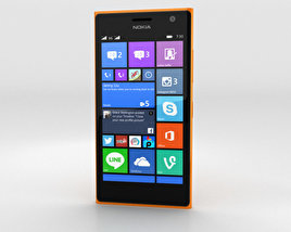 3D model of Nokia Lumia 730 Orange