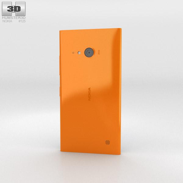 Nokia Lumia 730 Orange 3d model