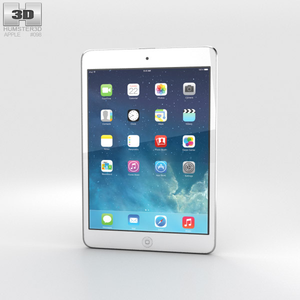 Apple iPad Mini 2 Silver 3D-Modell