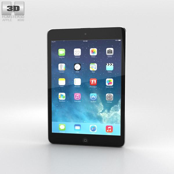 Apple iPad Mini 2 Space Grey 3D-Modell
