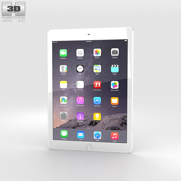 Apple iPad Air 2 Cellular Silver 3D model