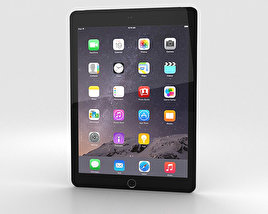 3D model of Apple iPad Air 2 Cellular Space Grey