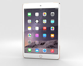 3D model of Apple iPad Mini 3 Cellular Gold