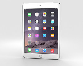 3D model of Apple iPad Mini 3 Cellular Silver