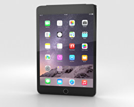 3D model of Apple iPad Mini 3 Cellular Space Grey