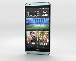 3D model of HTC Desire 820 Blue Misty