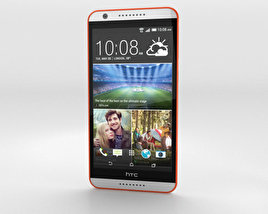 3D model of HTC Desire 820 Tangerine White