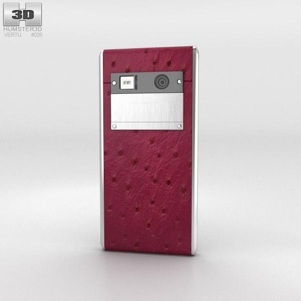 Vertu Aster Raspberry Ostrich 3d model