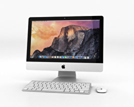 3D model of Apple iMac 21.5-inch 2014