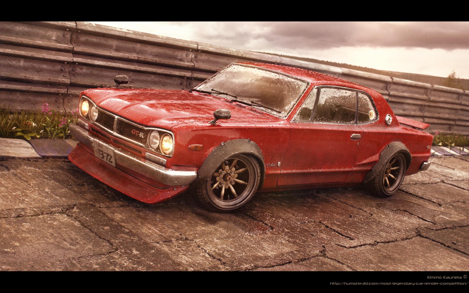 Red Baron - Nissan Skyline -72 3d art