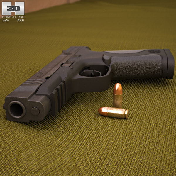 Smith & Wesson M&P .45 3d model
