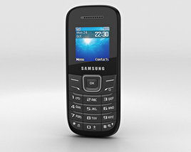 3D model of Samsung E1205 Black