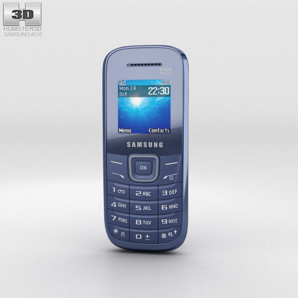 Samsung E1205 Blue 3d model