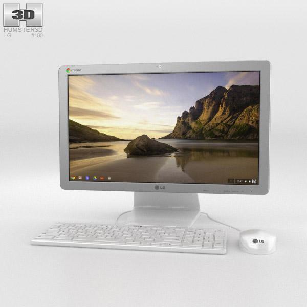 LG Chromebase Weiß 3D-Modell