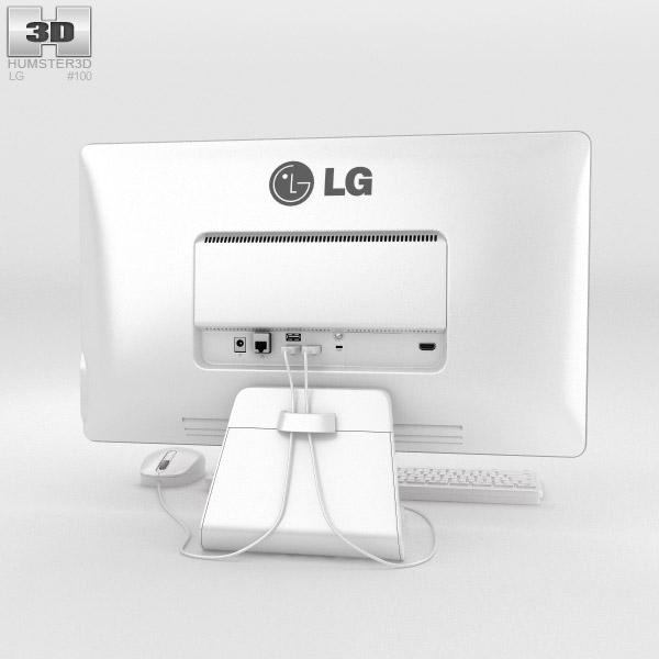 LG Chromebase White 3d model