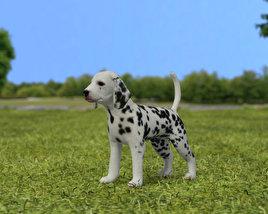3D model of Dalmatian Puppy