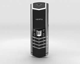 3D model of Vertu Signature Stainless Steel Black Leather