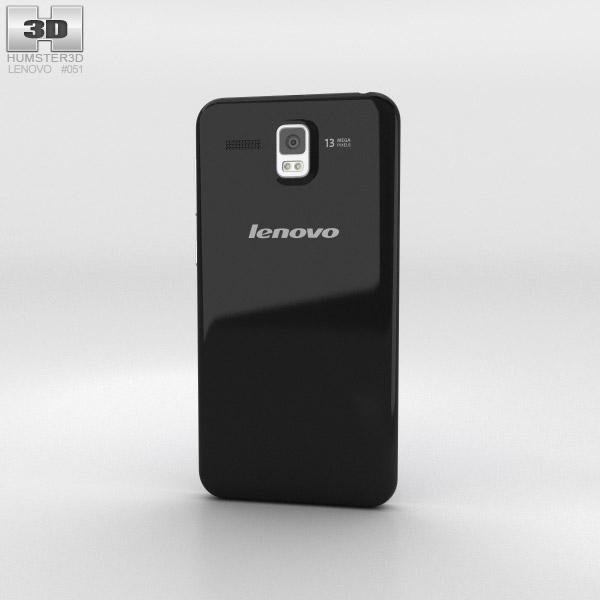Lenovo Golden Warrior A8 Black 3d model