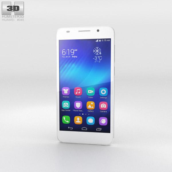 Huawei Honor 6 White 3d model
