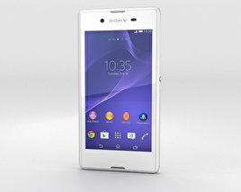 3D model of Sony Xperia E3 White