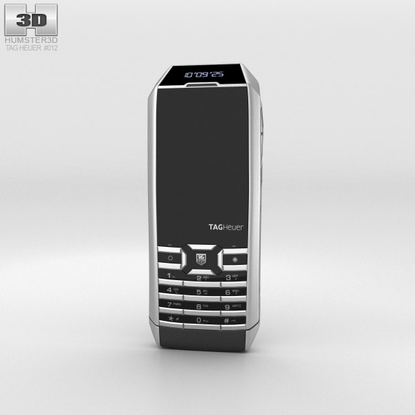3D model of TAG Heuer Meridiist II Elegance Black Rubber